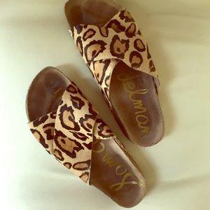 sam edelman leopard sandals